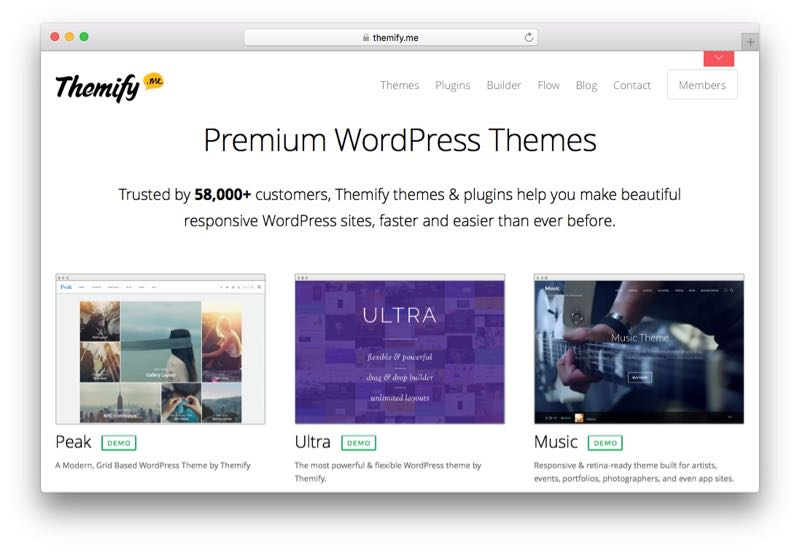Themify WordPress Theme Club & Membership