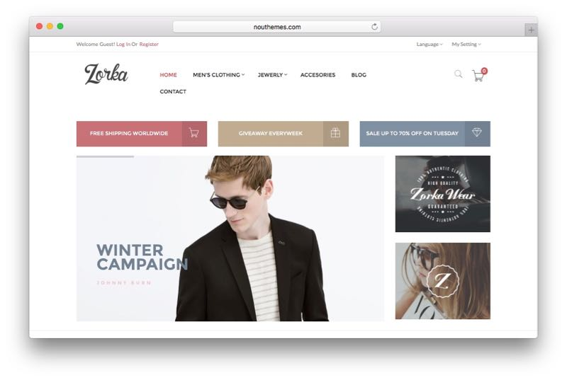 ZORKA Magento Fashion e-commerce store theme