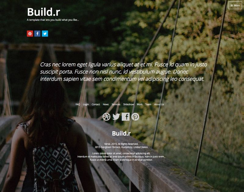 Full Screen Background Joomla Template