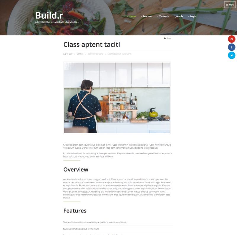 Writer Joomla Template