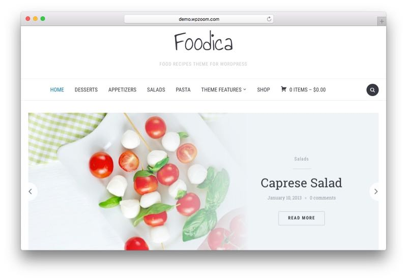 Foodica WordPress Food Blogging Theme
