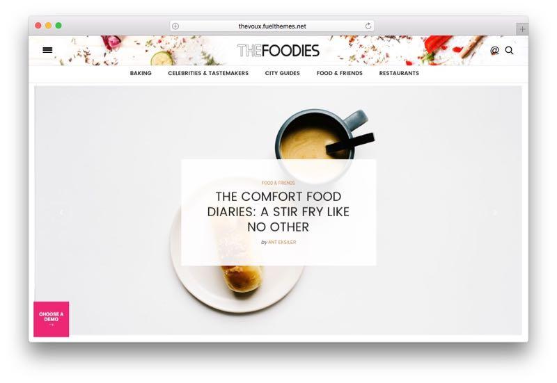 The Voux WordPress Food Blog Theme