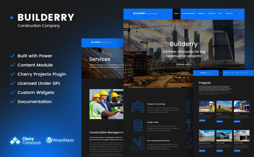 Builderry Construction Company WordPress Theme