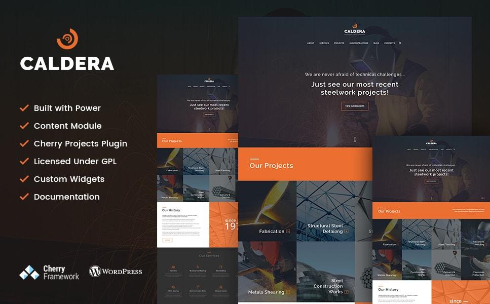 Caldera Steelworks & Constructions WordPress Theme