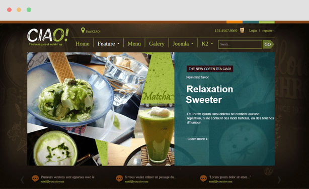 Ciao Coffee Joomla Template