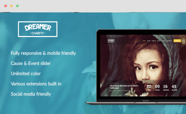 Dreamer Multipurpose Charity Joomla Template