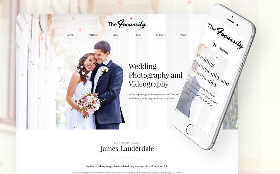 Focussity Wedding Photography WordPress Theme