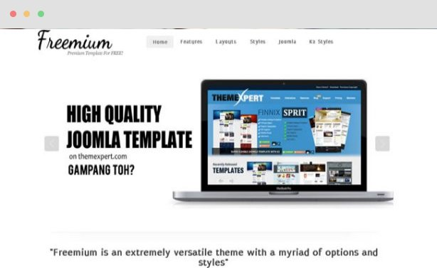 Freemium Joomla Template