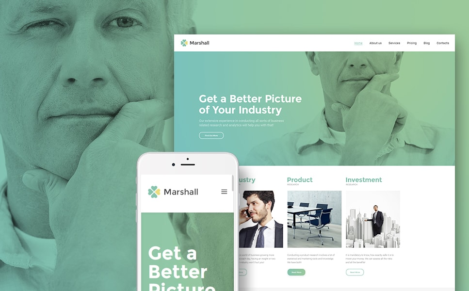 Marshal Business Analysis & Market Research Agency WordPress Theme