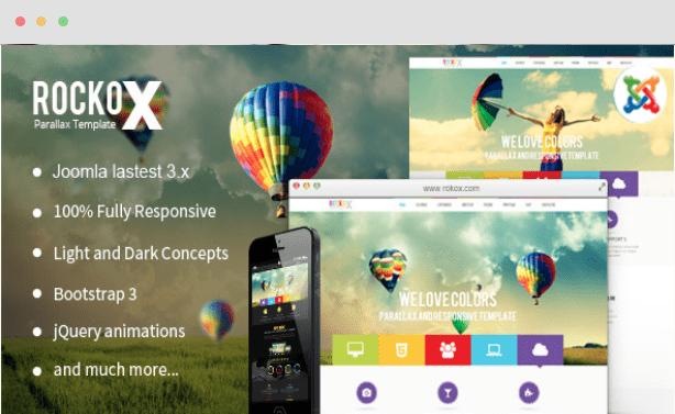 RockoX Onepage Parallax Joomla Template