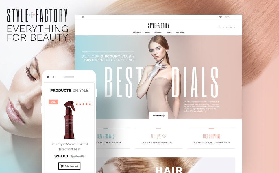Style Factory Hair Care & Hair Styling WooCommerce Theme
