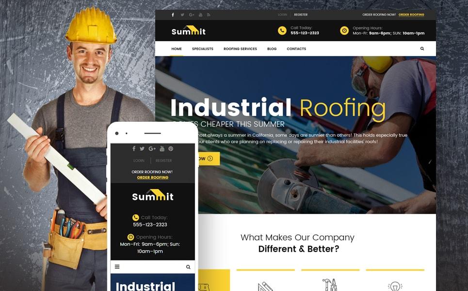 Summit Roofing Responsive WordPress Theme