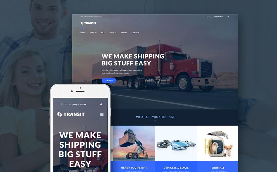Transit Logistics & Transportation Service WordPress Theme