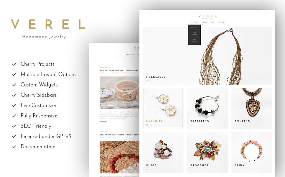 Verel Handmade Jewelry WordPress Theme