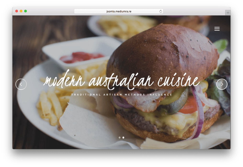 Attica Joomla Restaurant, Bar & Cafe Template