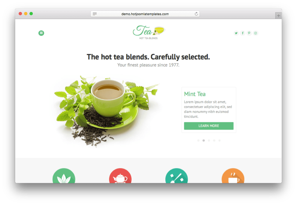 Hot Tea Joomla Beverages Template