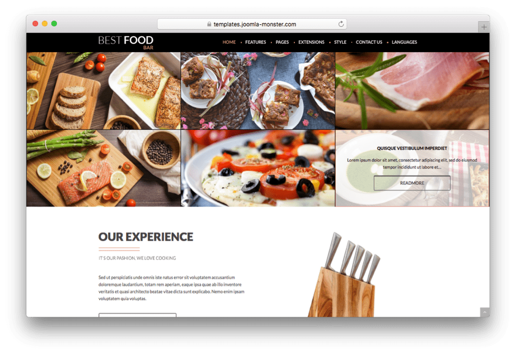 20 best restaurant joomla templates for food ordering system 2017 jm best food bar restaurant joomla template forumfinder Images