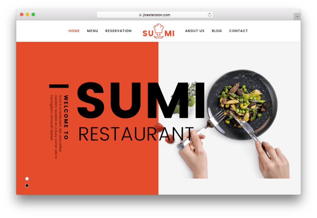 Sumi Restaurants, Bakery & Food Business Template