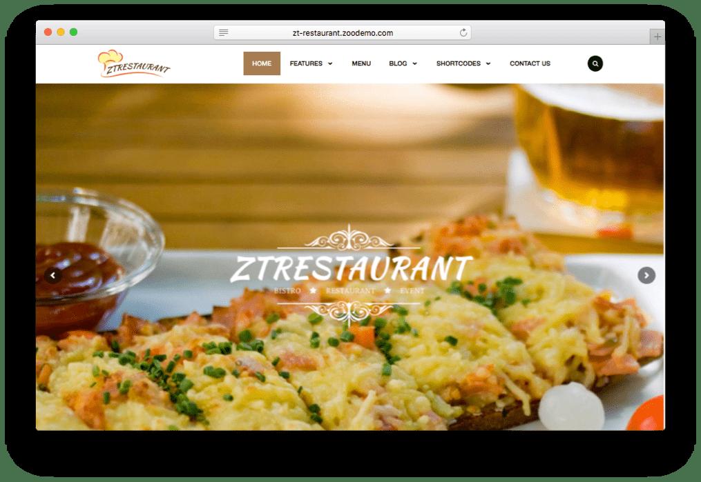 ZT Restaurant Reservation Joomla Template