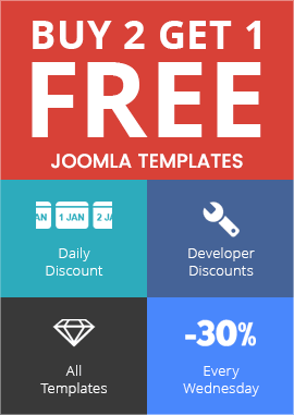 Joomla Monster - 93% Discount on Templates