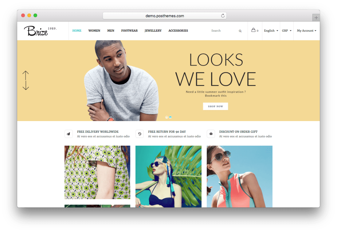 Brize – Responsive Prestashop Fashion Theme