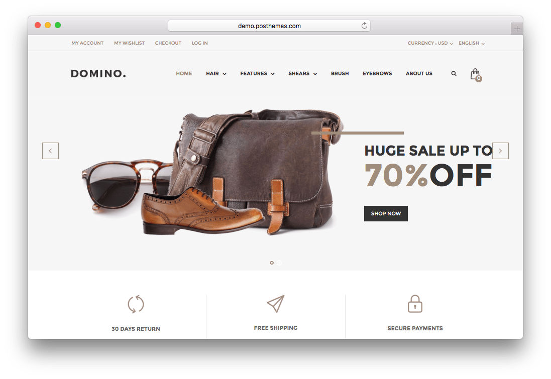 Domino Fashion Responsive Prestashop Theme