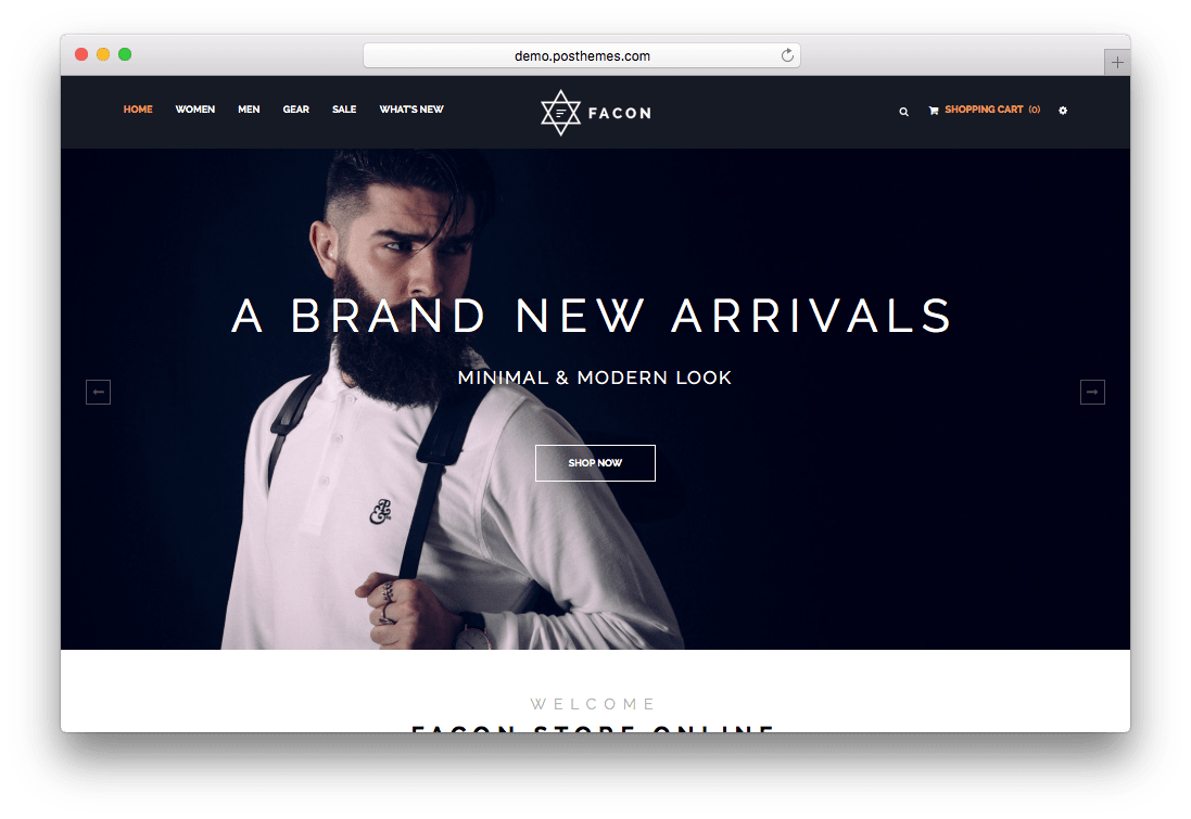 Facon Fashion Responsive Prestashop Theme