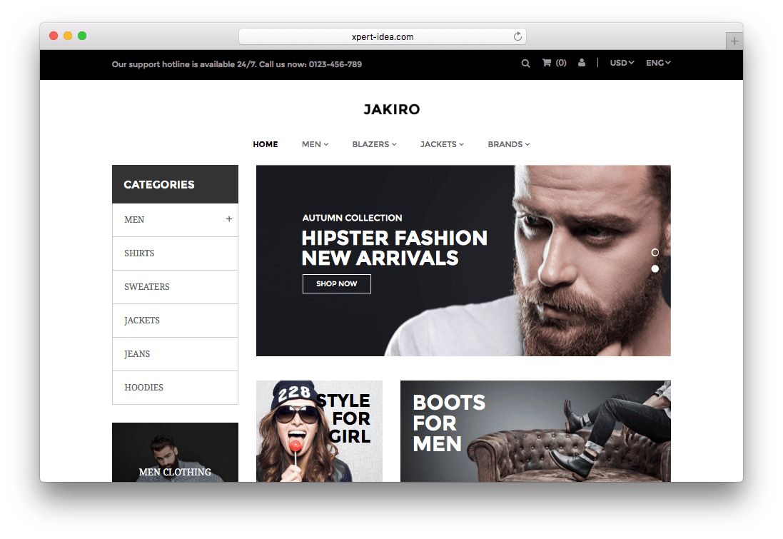 Jakiro Fashion Shop Prestashop Theme