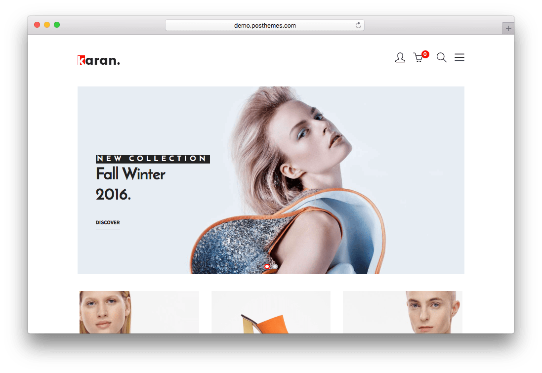 Karan Minimal Fashion Prestashop Theme