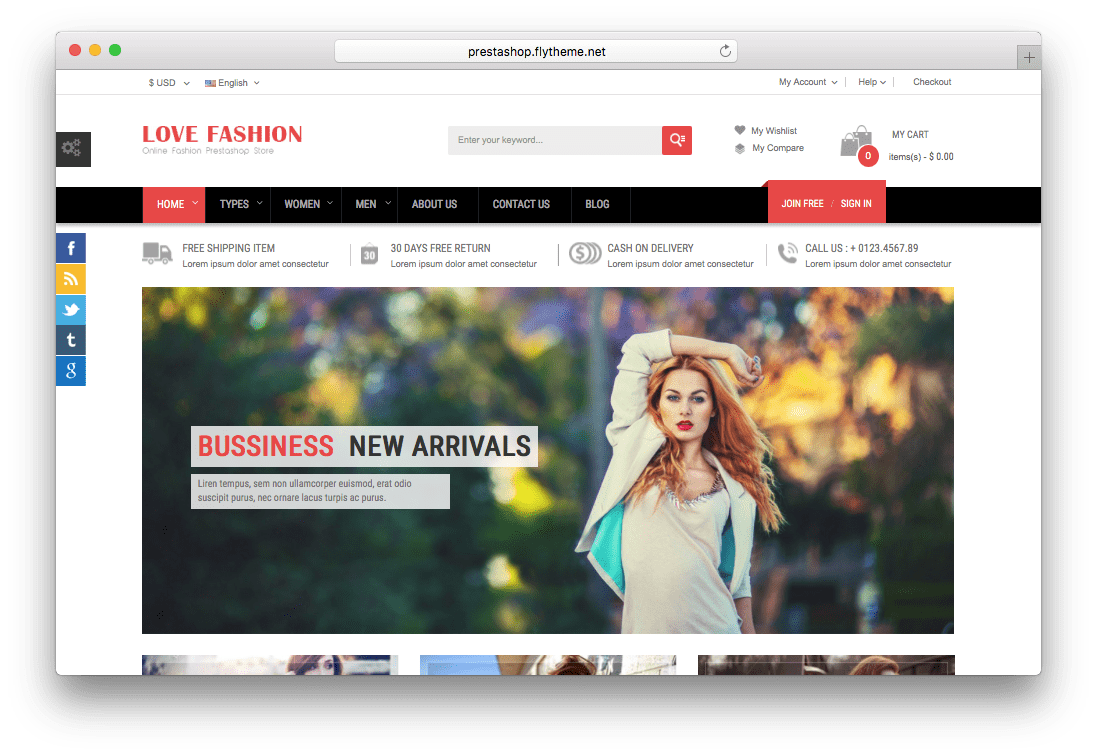 Love Fashion Responsive Prestashop Fashion Theme
