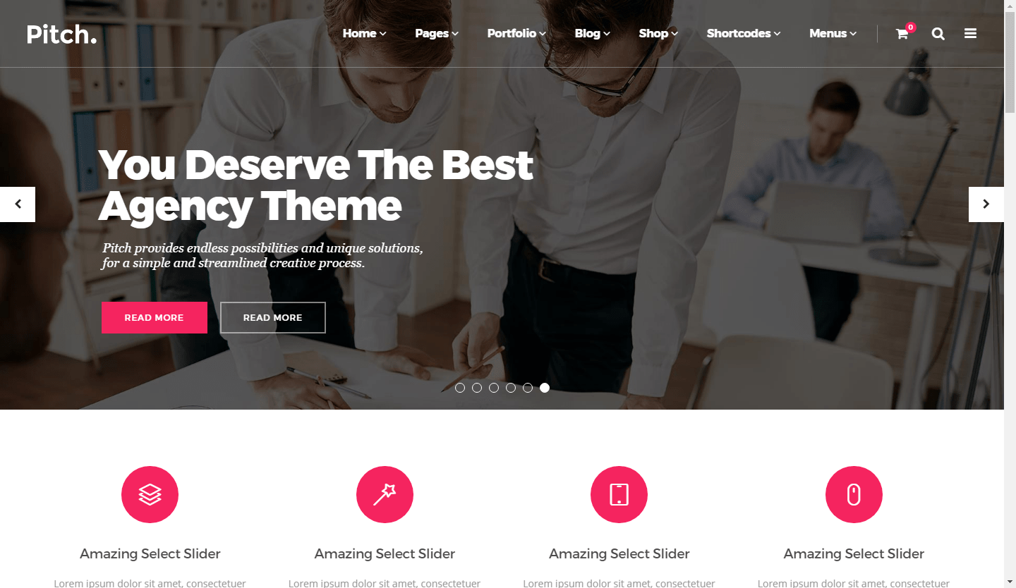 Pitch WordPress Marketing Freelancers & Agencies Theme