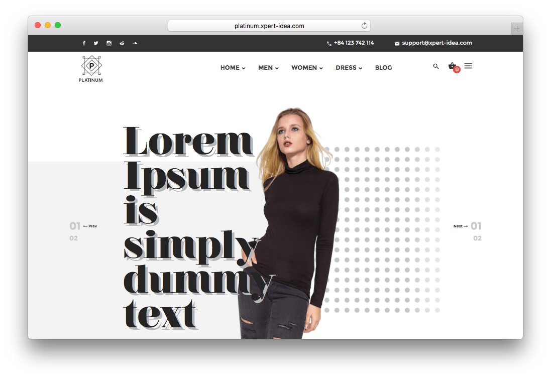 Platinum Fashion & Accessories Prestashop Theme