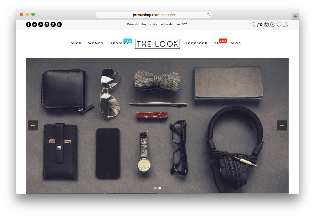 The Look Responsive Fashion Prestashop Theme