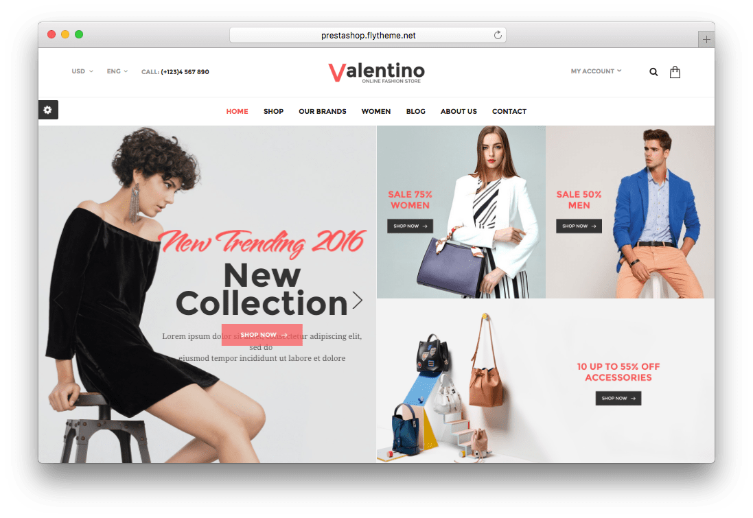 Valentino Responsive Fashion Prestashop Theme