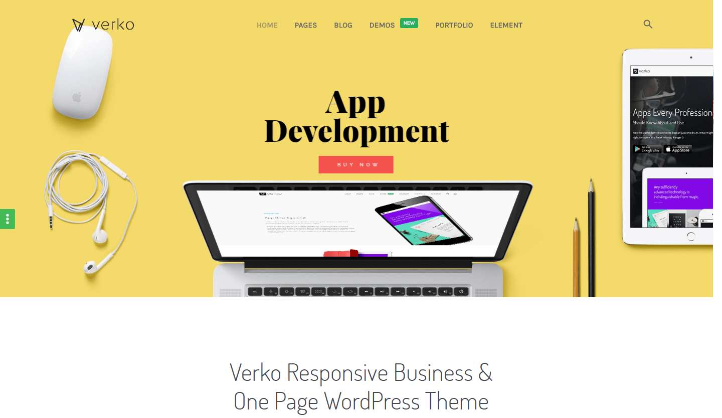 Verko Business & One Page WP Theme