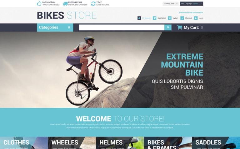 Bike & Cycling Store Magento Theme