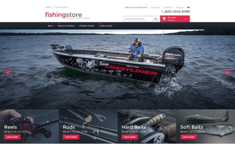 Fishing Store Magento Theme