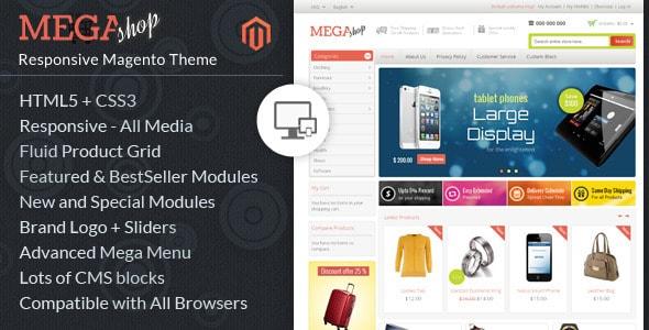 Mega Shop Magento Responsive Template