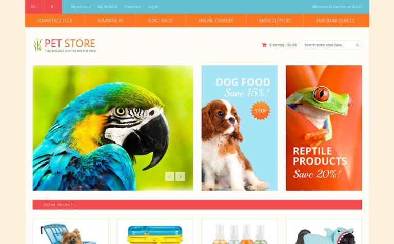 Pet Shop Responsive Magento Theme