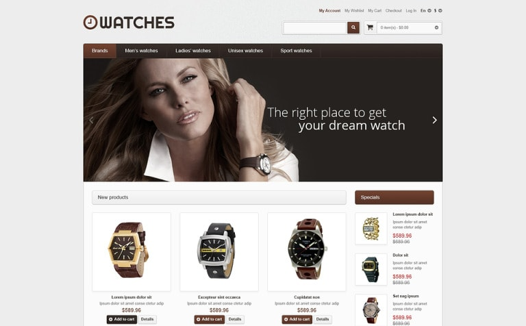 Watches Store Magento Theme