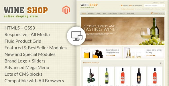 Wine Shop Magento Responsive Template