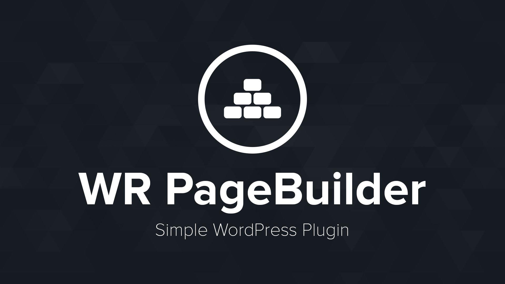WR Page Builder Plugin