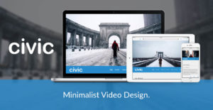 Civic Joomla Template for Full Screen Video Design
