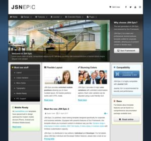 JSN Epic 2 Joomla Template for Corporate Websites