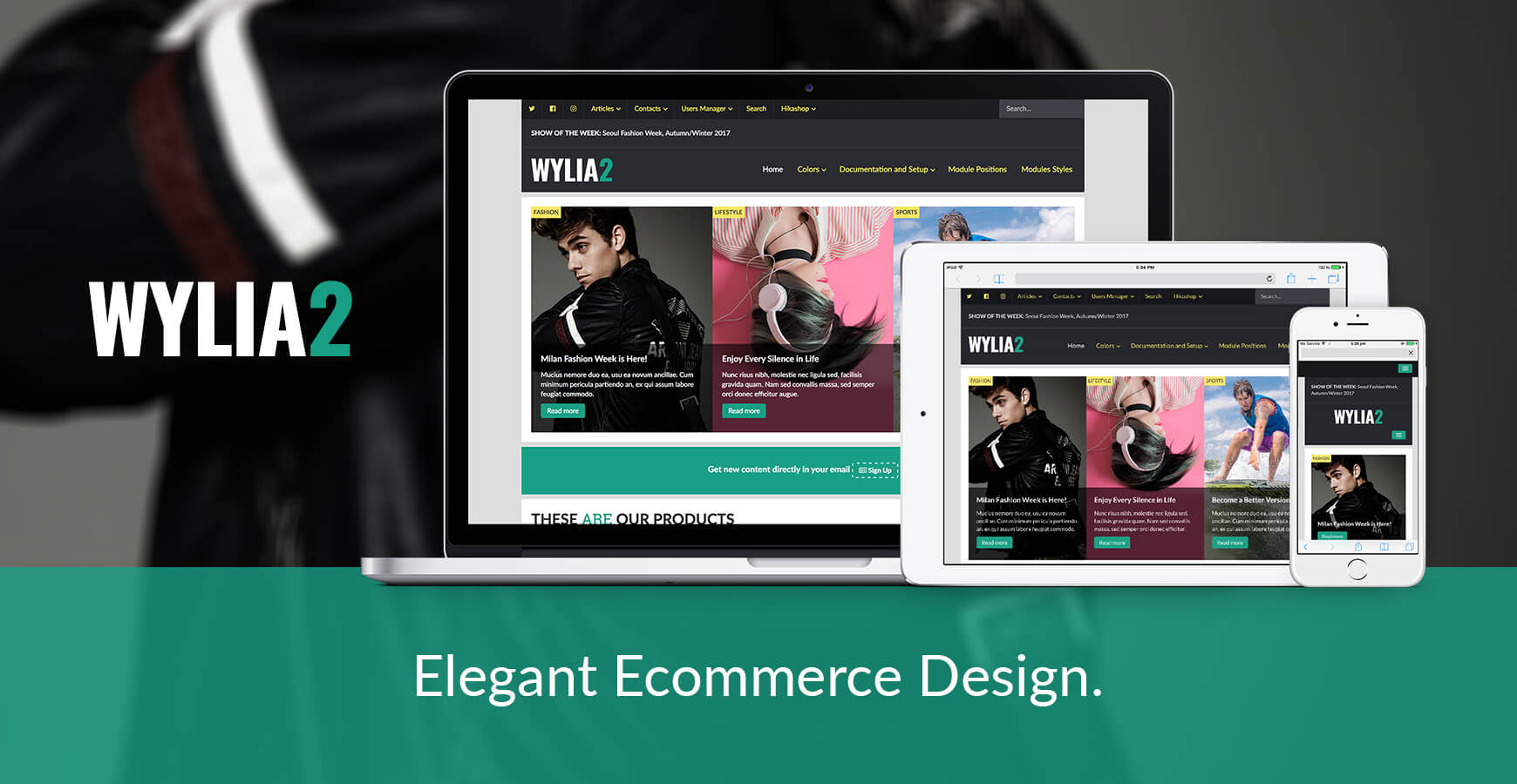 Wylia Joomla Template for e-Commerce
