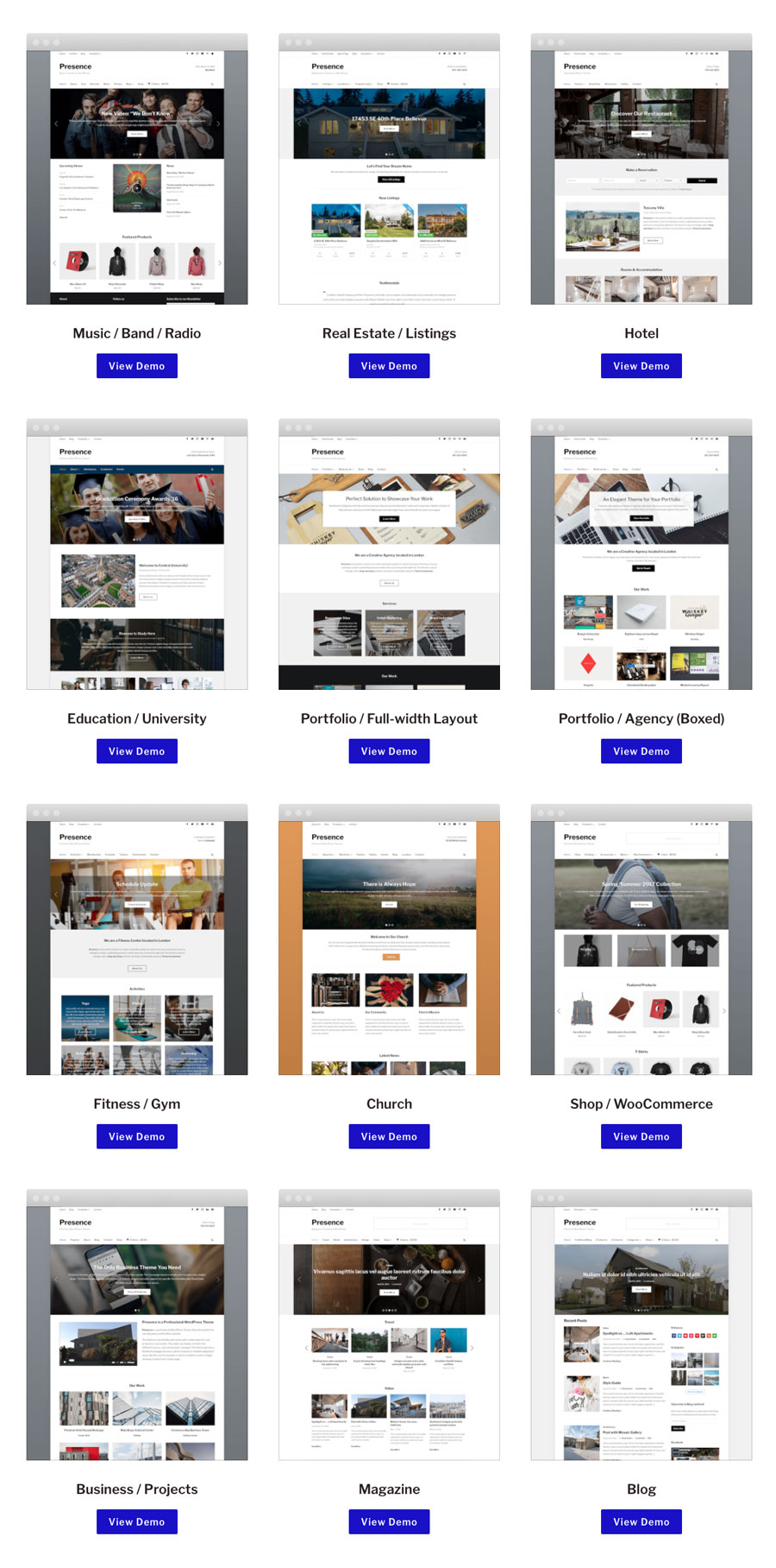 Presence WordPress Multipurpose Theme