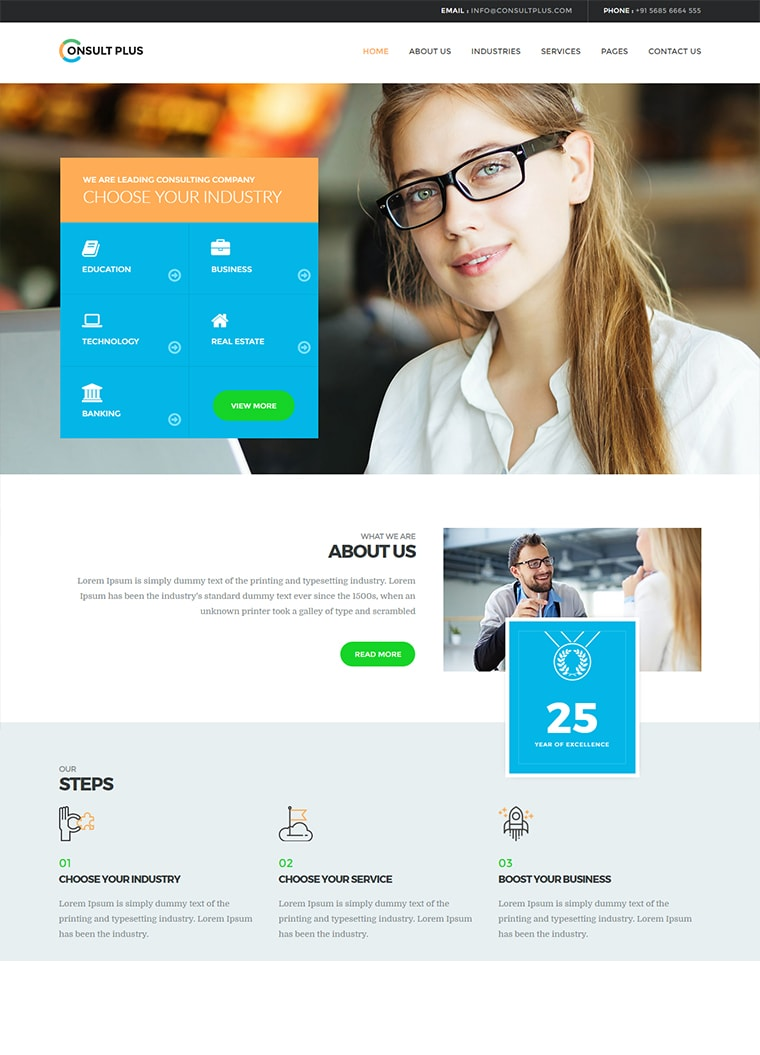 Consult Plus WordPress Corporate Business Theme