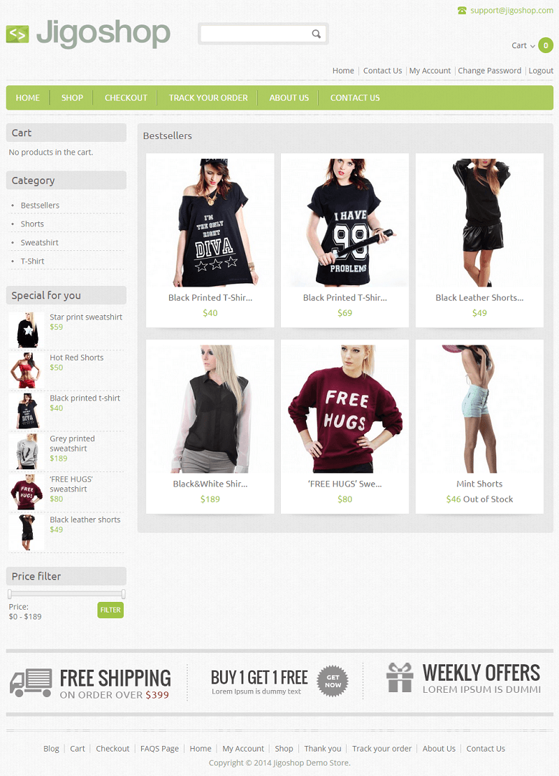 Jigoshop Free WP e-commerce plugin