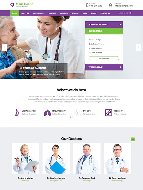 MegaHealth Medicare WordPress Theme