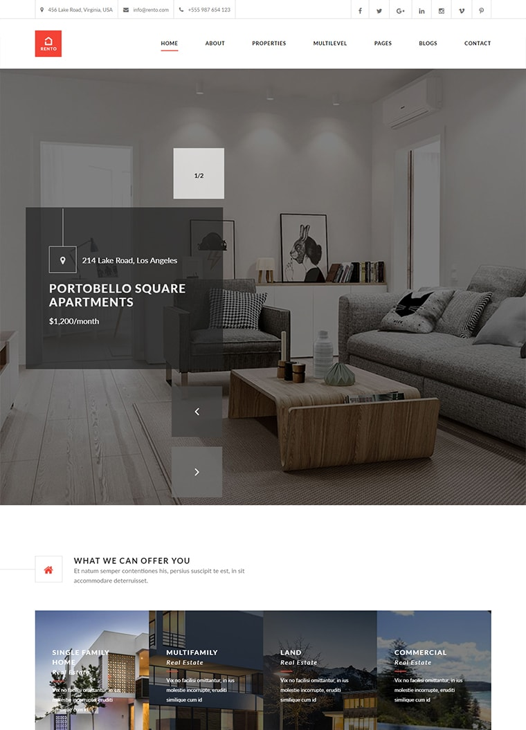 Rento WordPress Corporate Business Theme